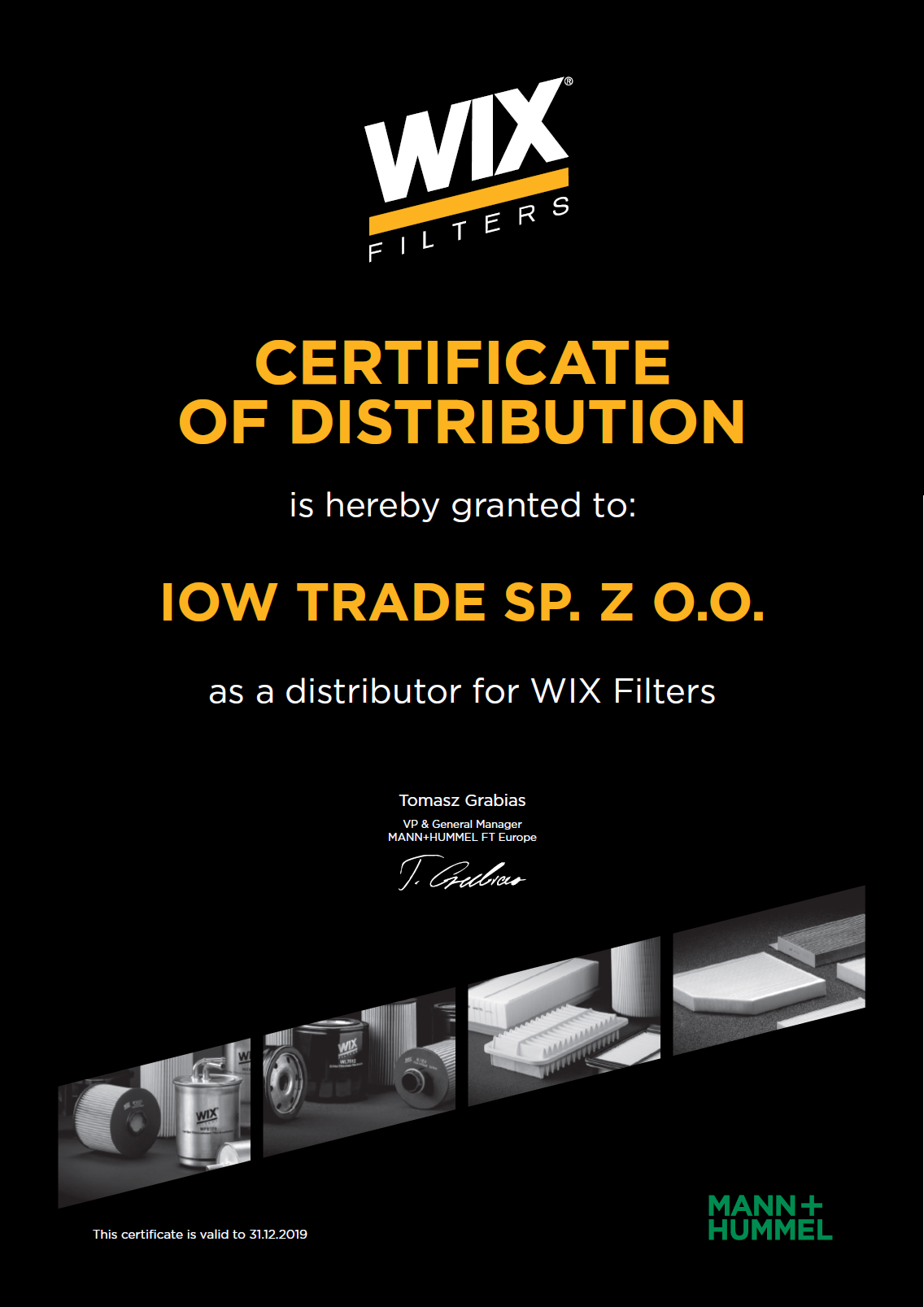 IOW TRADE - Certified distributor of WIX filters