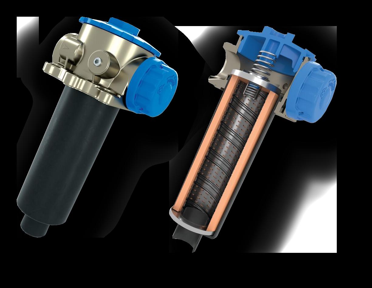 Filtry hydrauliczne Donaldson instalowane w zbiorniku